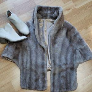 Vintage Faux Fur Cape